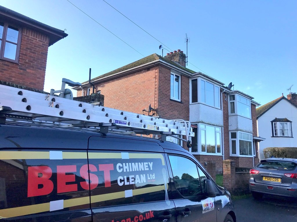 Spot the chimney sweep brush in Crediton