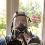 Exeter Chimney Sweep Sundstrom Sr200 with Sr500 Respirator